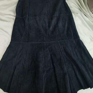 Cabi Black Leather Skirt size 8